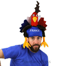 12 X FRENCH COCKEREL HATS FRANCE RUGBY FANCY DRESS SPORTS SUPPORTER MULTI PACK