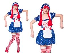 Cute Rag Doll Costume Ladies Dolly Dolls Fancy Dress Sizes 6-24