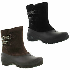 North Face Shellista II Waterproof Short Black Brown Boots Size UK 4-8