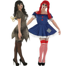 LIVING DOLLS WIND UP OR RAG DOLL COSTUME LADIES HALLOWEEN FANCY DRESS HORROR TOY