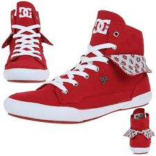 DC Shoes Asset HI Skater Sneaker Women's Shoes red Canvas