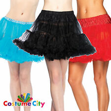 Adult's Women's Leg Avenue Basic Costume Petticoat - Choose A Colour