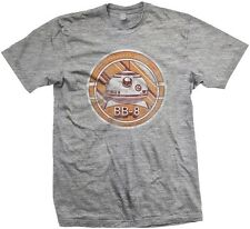 Official Mens Star Wars Episode VII BB8 Droid Distressed Grey T-Shirt - Tee BB-8