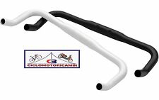 MANUBRIO ALLUMINIO URBAN SINGLE SPEED BIANCO NERO BICI FIXED BULLHORN 31.8MM