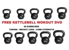 Kettlebells Cast Iron Strength Weight Training FREE Kettlebell Workout DVD