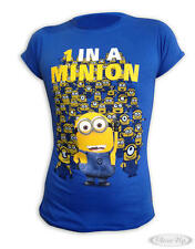 Despicable Me Girlie-Shirt 1 In A Minion (Minions) - blau, 100 % Baumwolle.