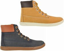 BOYS GIRLS TIMBERLAND GROVETON 6 INCH LACE LEATHER LADIES CUPSOLE BOOTS 3-6.5