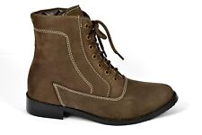 Womens Suede Chelsea Boots Leather Knee Ankle Shoes New Style Lace Up Thigh Size
