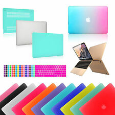 Hard Rubberized Case+ Keyboard Cover For NEW 12 MacBook Air 11/13 Pro 13/15 inch
