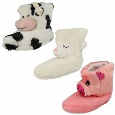 Damen Divaz Neuheit Tier Stiefel/Stiefel Slipper Style COUNTRY Animal
