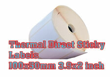 Thermal Direct White Sticky Labels 100X50mm 3.9X2inch Zebra  GC420d And More