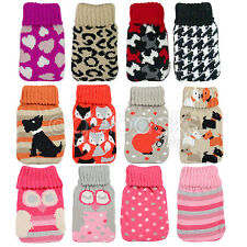 Single Gel Hand Warmer Instant Reusable Heat Winter Cold Weather Knitted Cover