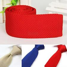 Men's Tie Knit Knitted Necktie Slim Skinny Party Plain Necktie Narrow Woven C62