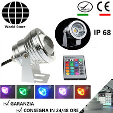 Faretto Led Proiettore Orientabile 10W RGB Multicolore Esterno Waterproof DC 12V