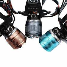 2000 Lumens CREE XM-T6 LED Zoom Headlight Lamp Rechargeable Head Torch + Charger