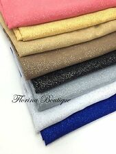 Shiny Glitter Hijab Chiffon plain Large scarf wrap shawl party Eid occasion