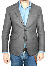 PAOLONI jacke herren stoff 35% wolle 35% baumwolle 30% angora MADE IN ITALY