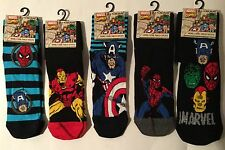 1 pair Mens Socks with Marvel Avengers Captain America, Spiderman, Ironman, Hulk