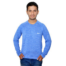 New Imported Dri-Fit Polyester Round Neck Full Sleeve Casual Wear T-Shirt !!