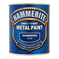 Hammerite Metal Paint Hammered - Blue - 750ml - Bargain Price