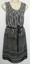 NEW LADIES FLORENCE & FRED TESCO GREY PAISLEY PRINT SUMMER DRESS SIZE 6 - 18