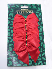 WHOLESALE JOB LOT 50 CARDS OF 6 XL CHRISTMAS TREE BOWS