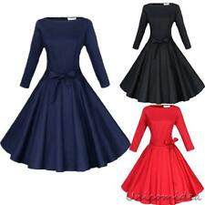 50S 60S ROCKABILLY Vintage Style Swing Pinup Retro Housewife Party Evening Dress