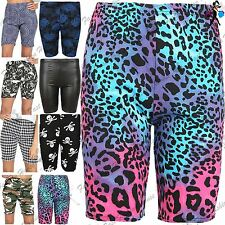 Womens Cycling Hot Pants Ladies Shorts Printed Stretchy Jersey Gym Bike Tights