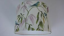 LAMPSHADE made from Halcyon Days Nature Cream Wallpaper..  Handmade.
