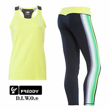 Freddy Leggings D.I.W.O SUPERFIT 7/8 +CANOTTA OMAGGIO S6SF7TE1TT FITNESS NEW
