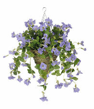 House of Silk Flowers Inc. Artificial Petunia Hanging Plant in Cone Basket