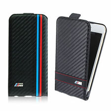 """Official BMW iPhone 6 6S Carbon Effect Leather Flip Flap Cover For iPhone 4.7"""""""