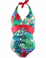 New Lower Price...Pour Moi 17006 Jungle Fever Halter Neck Swimsuit 32-38 C to G
