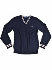 Fred Perry Strickpullover Zopfmuster Navy K6383 608 #5705