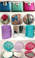 LADIES GIRLS COMPACT MAKE UP BLUSHER COSMETIC HAND BAG POCKET SIZE MIRROR