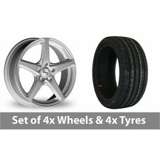 """4 x 17"""" Xtreme X60 Silver Alloy Wheel Rims and Tyres -  215/40/17"""