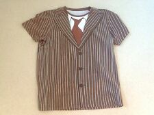 DOCTOR WHO - OFFICIAL BBC T SHIRT - 10TH DR SILHOUETTE PINSTRIPE SUIT - TENNANT