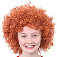 CHILDS GINGER AFRO WIG SHORT CURLY ORANGE HAIR MUSICAL FILM FANCY DRESS COSTUME
