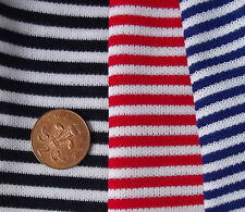 """Vintage dress making fabric samples 12"""" square STRIPED red blue navy Courtelle"""