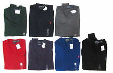 Polo Ralph Lauren Mens Italy Merino Wool V Neck Slim Custom Pony Logo Sweater