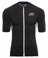 "X-Bionic Herren Radtrikot ""Bike race The Trick Shirt SL Full Zip"" Schwarz Orange"