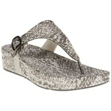 New Womens FitFlop Taupe Multi Superjelly Rubber Sandals Animal Buckle