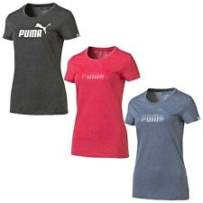 PUMA Damen Essential ESS No.1 Logo Heather Tee T-Shirt