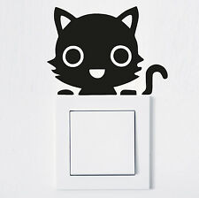 ADHESIVO INTERRUPTOR LUZ Gato Pegatina pared tomacorriente Fun COCHE Animal 990