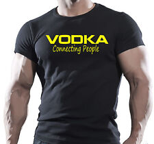 NEW - Vodka Connecting People Funny Present T-shirt S-XXL
