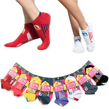 Marcell Womens 360 RUN No Show Arch Support Trainer Colour Socks Sport Running