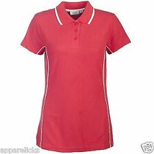 4D Performance Women's Sports Polo Shirt Red Style Fashion Golf Gym Active