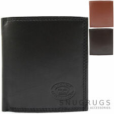 Mens Genuine Soft Leather Bi-Fold Wallet with Multiple Credit Card Slot