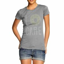 Twisted Envy Women's I Donut Care Rhinestone Diamante T-Shirt