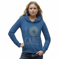 Twisted Envy Women's I Donut Care Rhinestone Diamante Hoodie